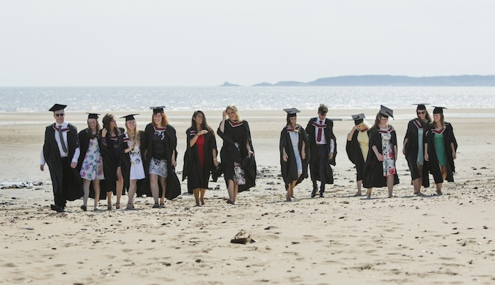Graduates on the Bay Campus
