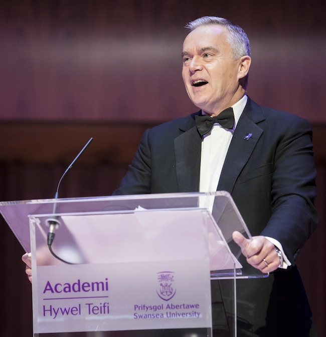 Huw Edwards as guest speakers