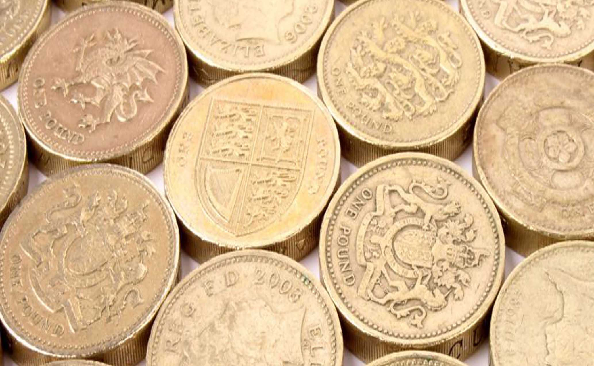 Collection of pound coins