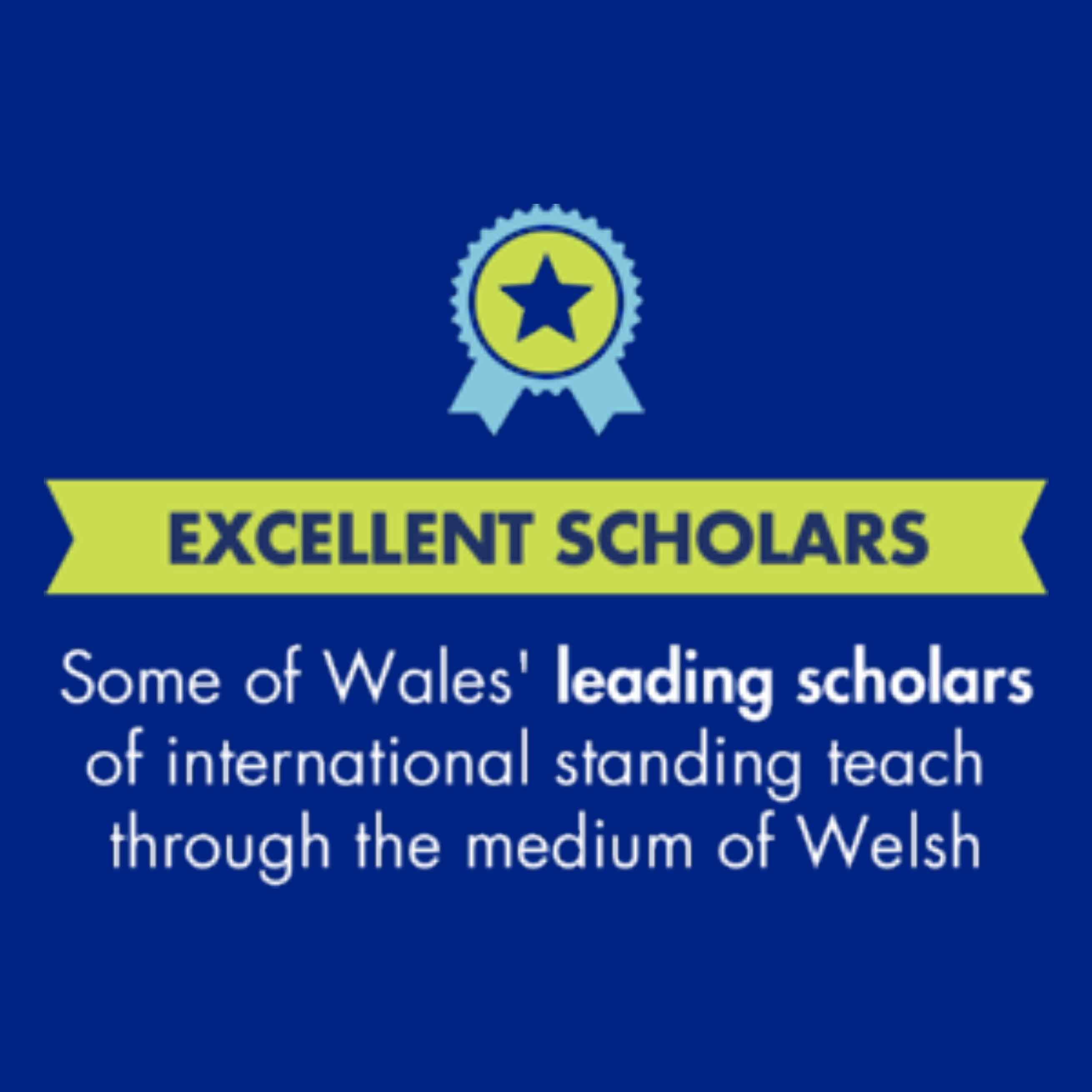 Some of Wales' leading scholars of international standing teach through the medium of Welsh