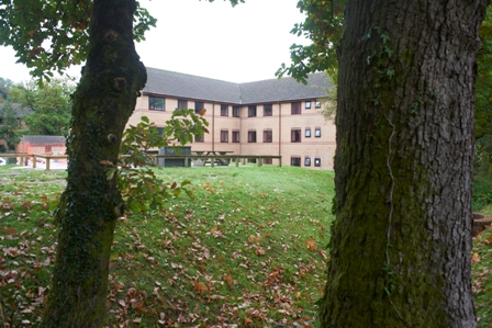View of Hendrefoelan Student Village houses, Swansea University