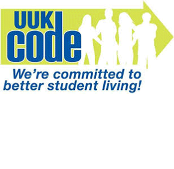 UUK Code logo 'We're committed to better student living!'