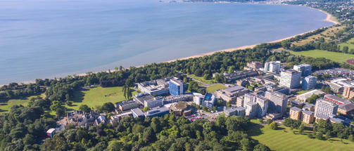 Swansea university singleton campus Arial shot