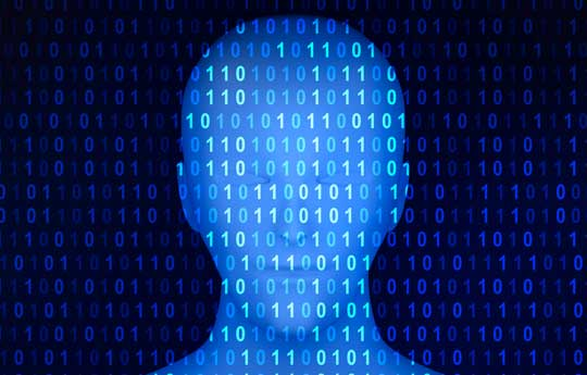 Abstract image of a binary man