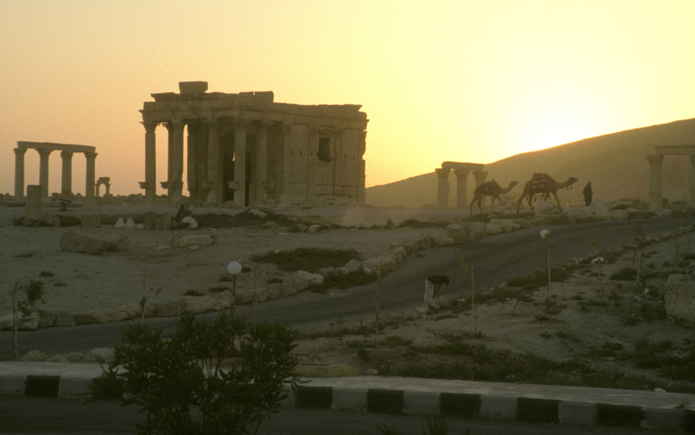 Ancient Monuments on a dusty plain.