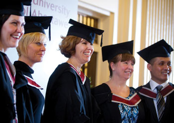 Adult students at the graduation ceremony