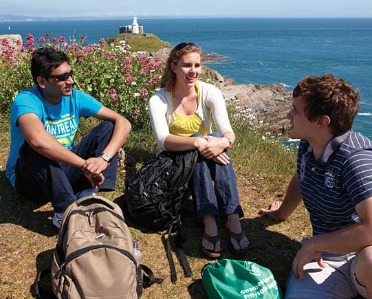 Postgraduate students at Bracelet Bay