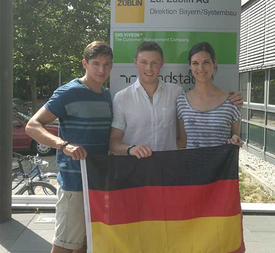 Students working abroad in Germany.