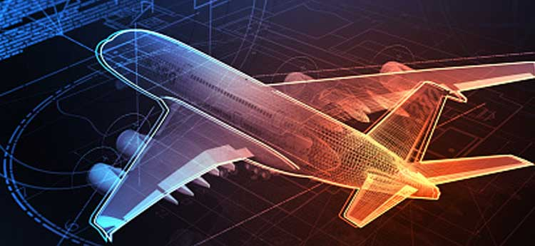 3d computer generated image of a passenger aeroplane