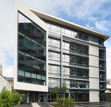 image of the data science building on singleton campus