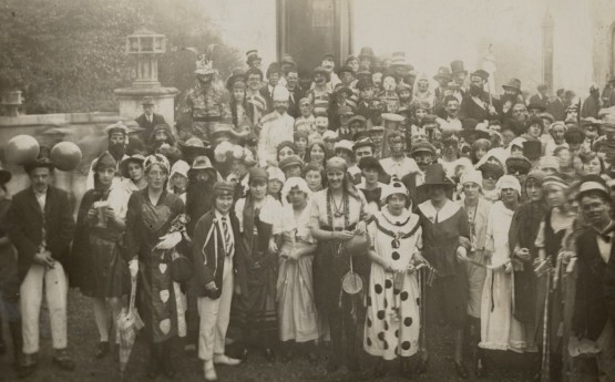 Students in Fancy Dress for RAG, 1922. Courtesy of the Richard Burton Archives, Swansea University (reference: UNI/SU/PC/5/5)