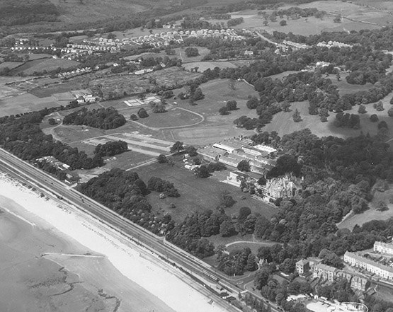 Aerial photograph of Swansea University, Singleton, c.1940s. Courtesy of the Richard Burton Archives (reference: 1999/11)