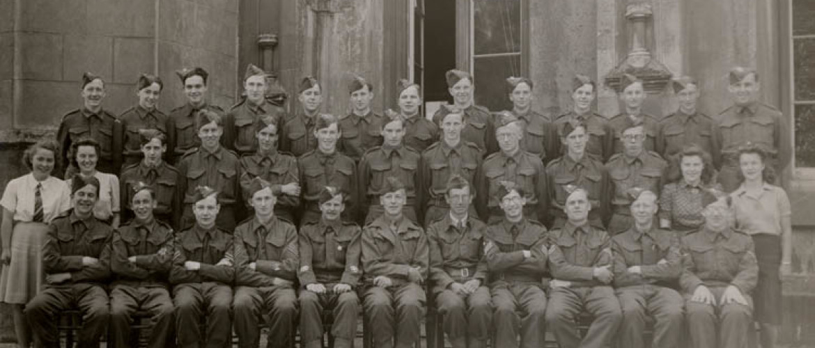 Home guard stationed at Swansea University, 1942.