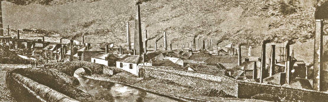 Historical image of Lower Swansea Valley's global copper industry.