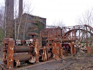 Photograph of the engine house at hafod-morfa copperworks