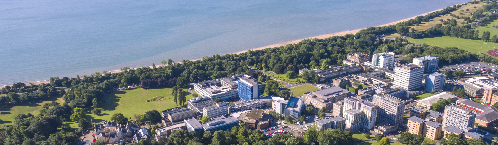 Swansea University aerial picture