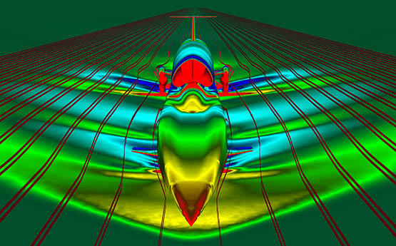 Computational Fluid Dynamics image of the BLOODHOUND SSC