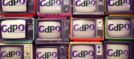 Televisions displaying the GDPO logo