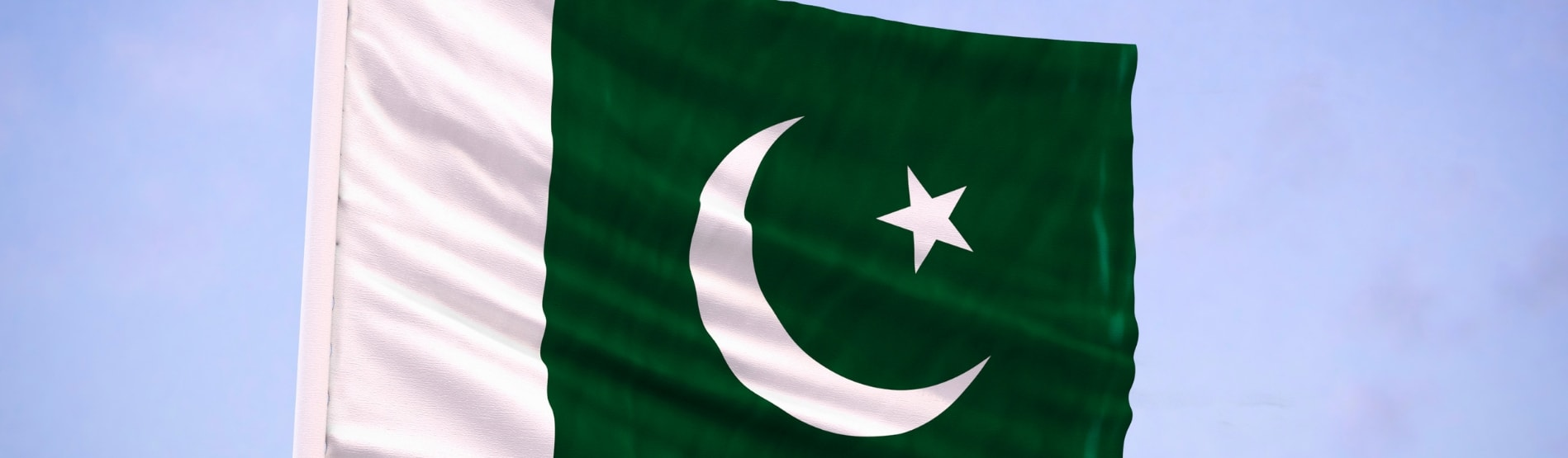 Flag of Pakistan waving in the breeze