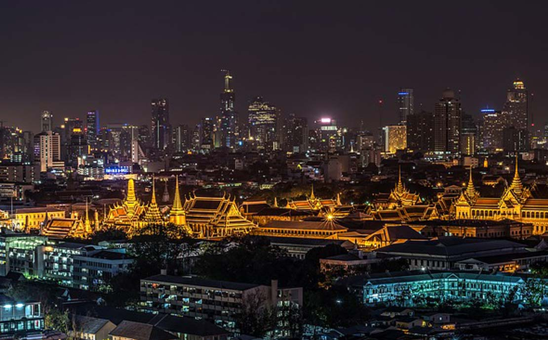 a panoramic view of bangkok