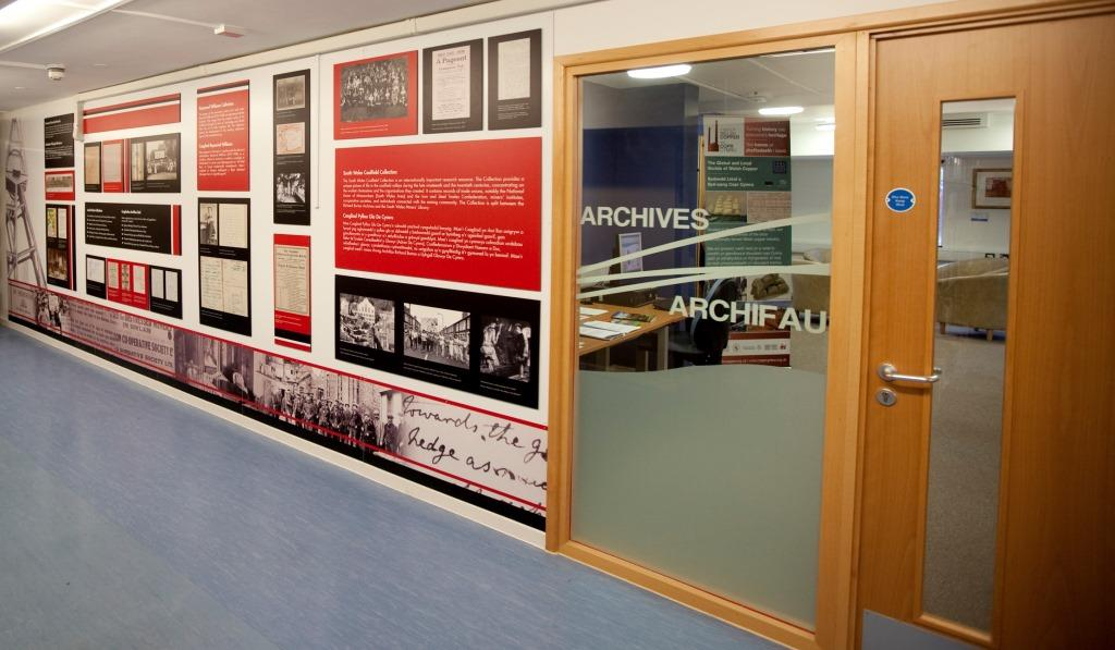 Entrance to the Richard Burton Archives