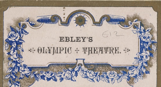 Playbill for Ebley's Theatre