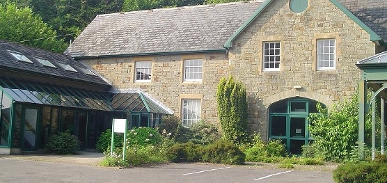 Exterior of the South Wales Miners' Library, formerly the Coach House of the Hendrefoilan Estate