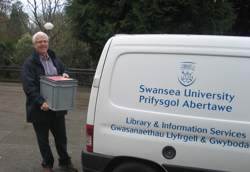 Colin and the library van