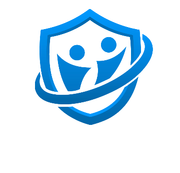Safezone logo - blue shield on white background