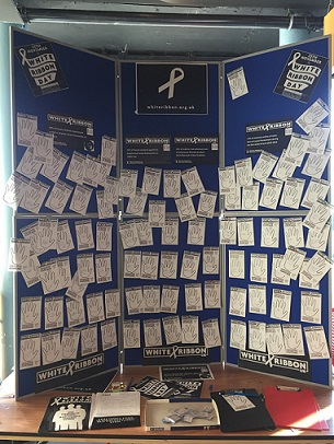 White Ribbon pledges