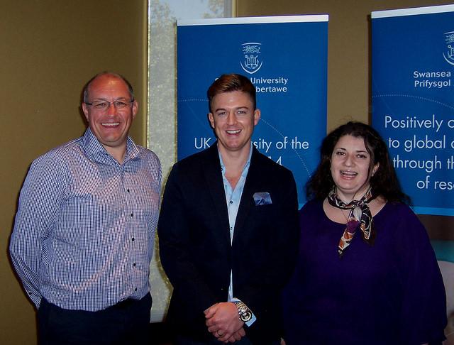 Matthew Ware with joint Swansea-Houston Phd supervisors