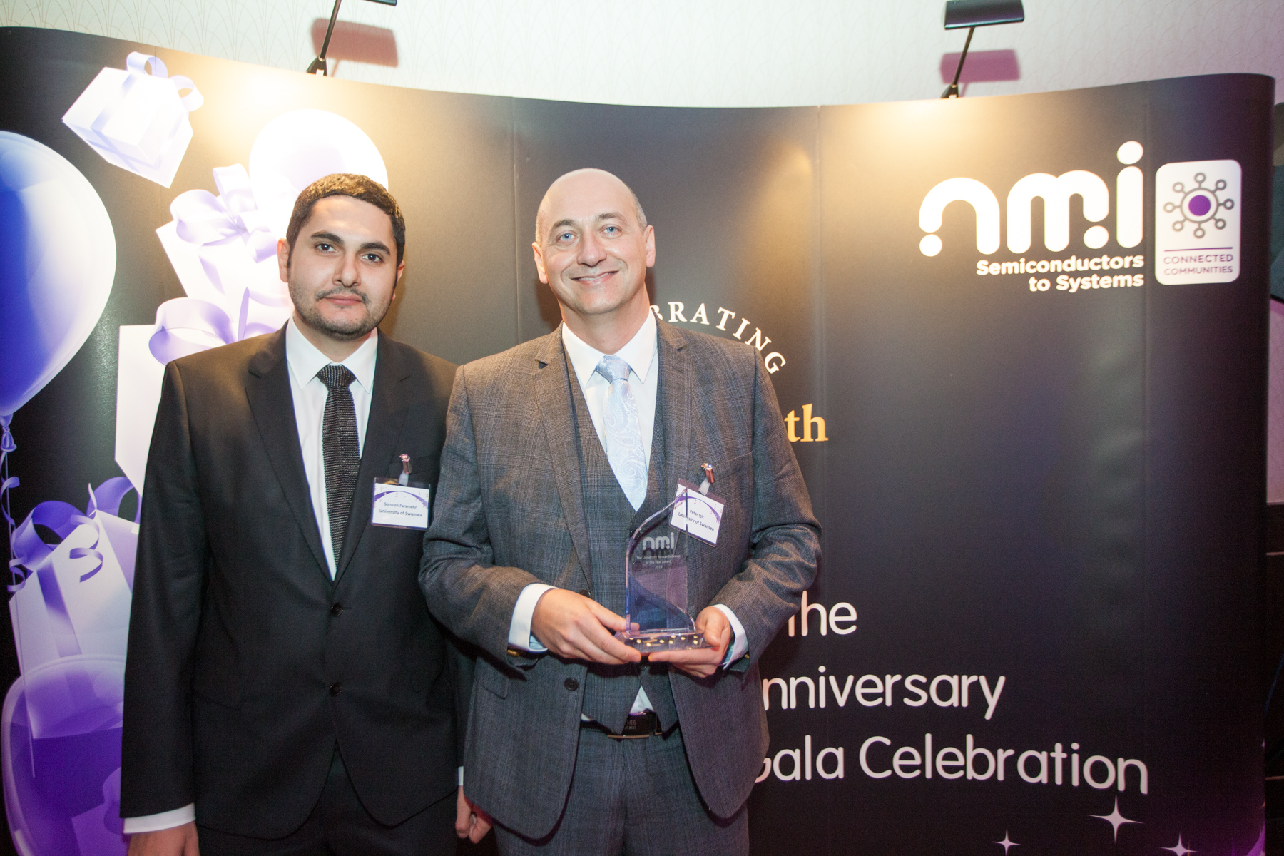Dr Soroush Faramehr and Dr Petar Igic receive the 2016 NMI University Research