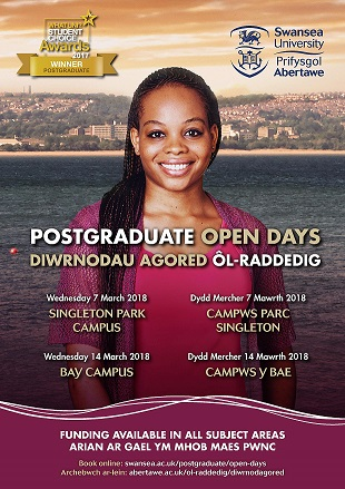 Postgraduate Open Day 2018 poster (March)