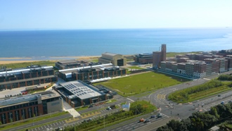 Bay Campus aerial shot
