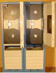 Two Ampex 14 channel frequency multiplexed tape drives