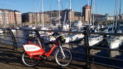 Bike in marina