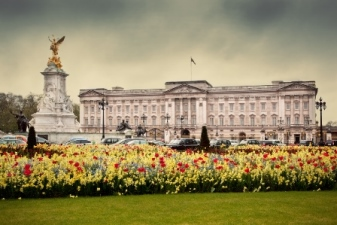 Buckingham Palace stock shot