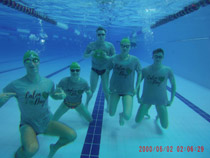 Heart screening event Canlon tshirts swimming