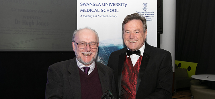 Dr Hugh Jones Receiving Centenary Award
