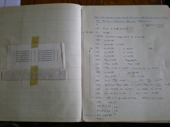Pages from Rod Delamere's programming exercise book