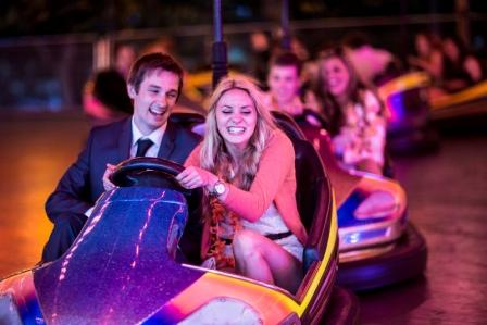Students in dodgems