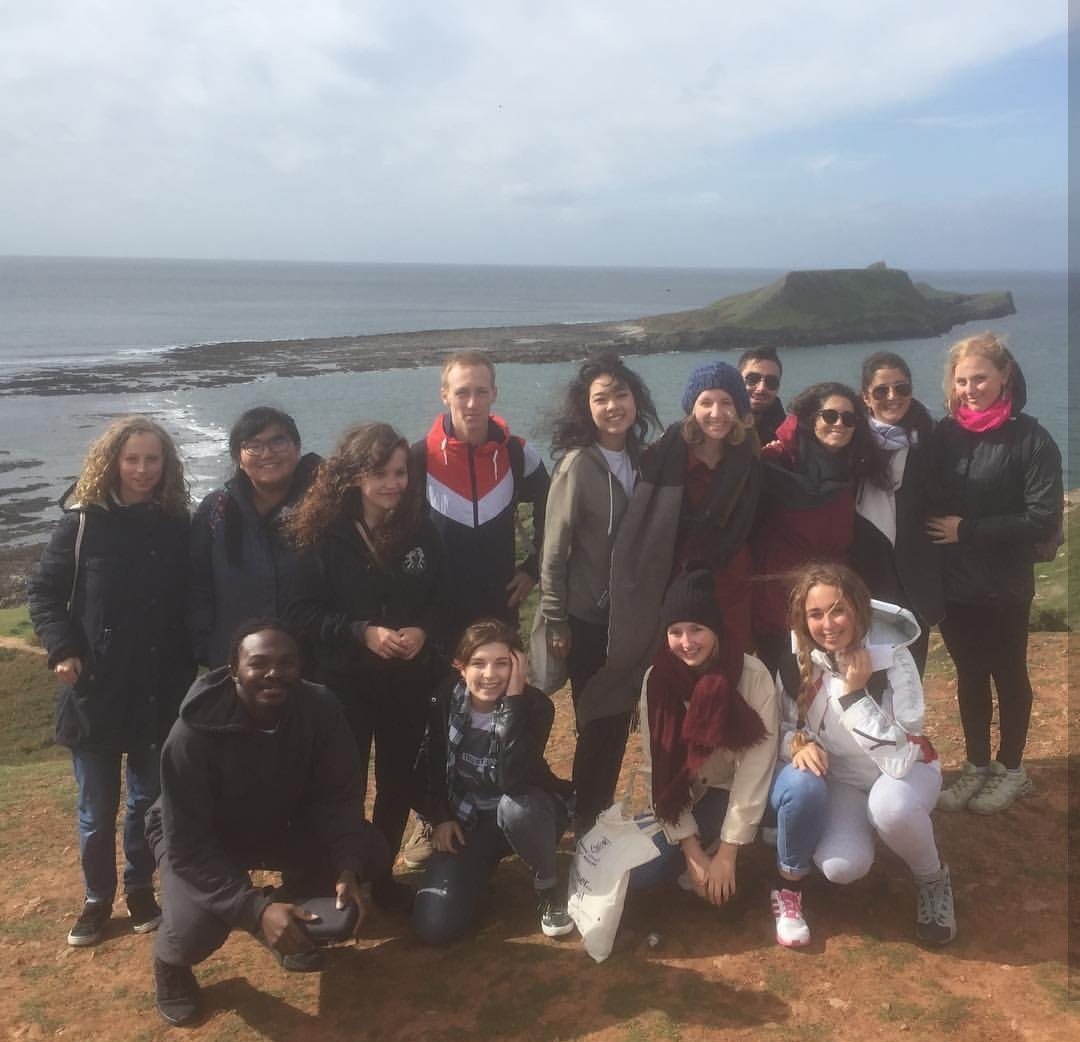Int. students at the Gower