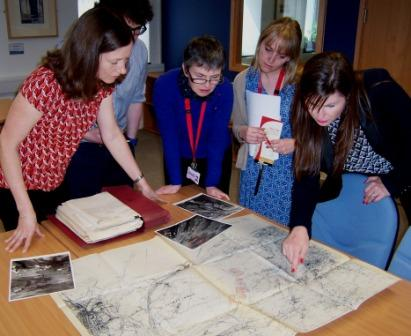 Tata steel archives - group with map