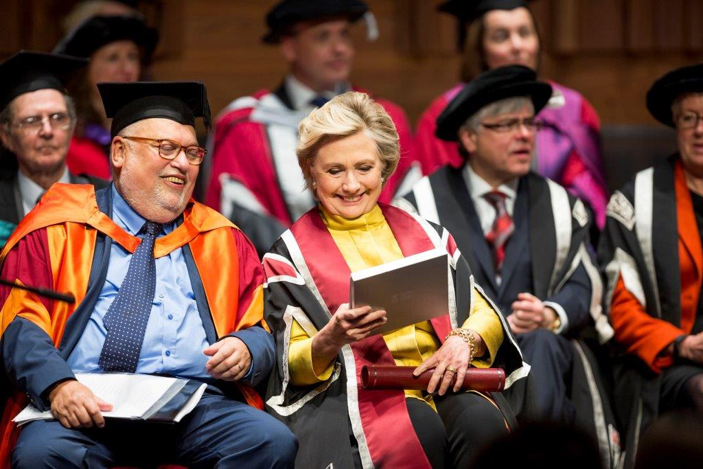 Professor Mike Sullivan and Secretary Hillary Clinton