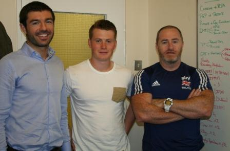 William Sparkes with Sports Science tutors