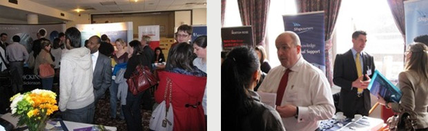 LLM students at the Careers Fair
