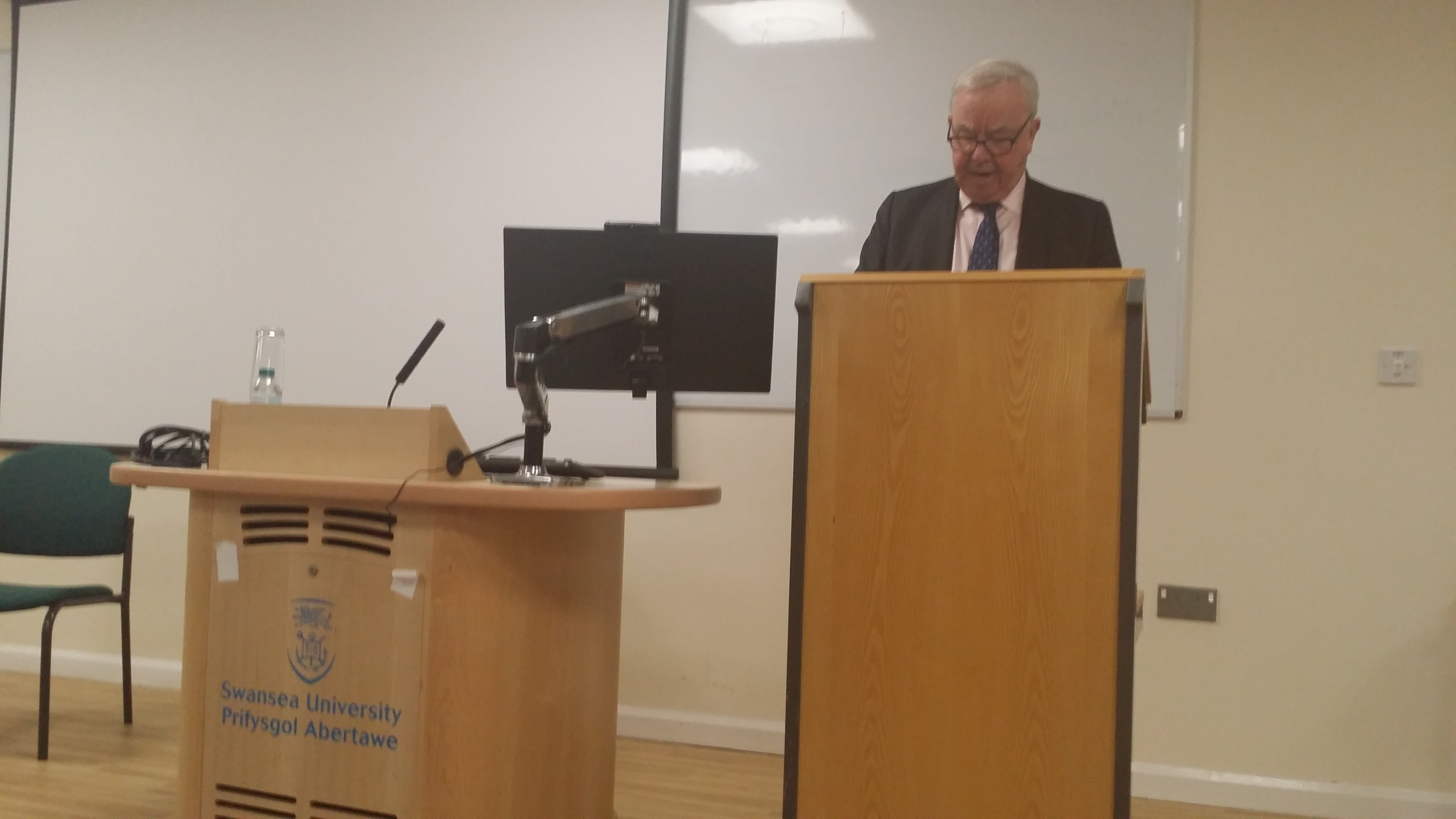 Lord Clarke speaking at the public lecture