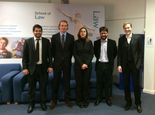 LLM Mooting photo with winning team 2014