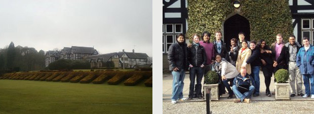 The Conference Venue and the Swansea LLM delegation at the Gregynog Conference