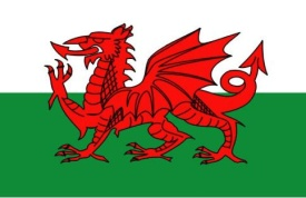 Welsh flag w border